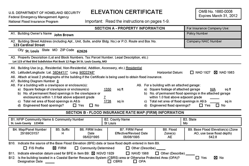 How Do I Read An Elevation Certificate? Part 1