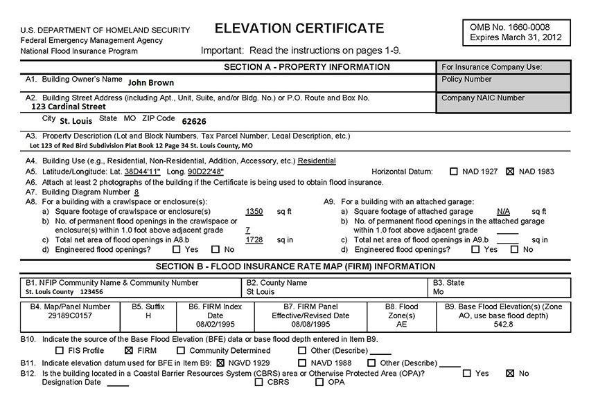 how do i read an elevation certificate? part 1 | cardinal surveying