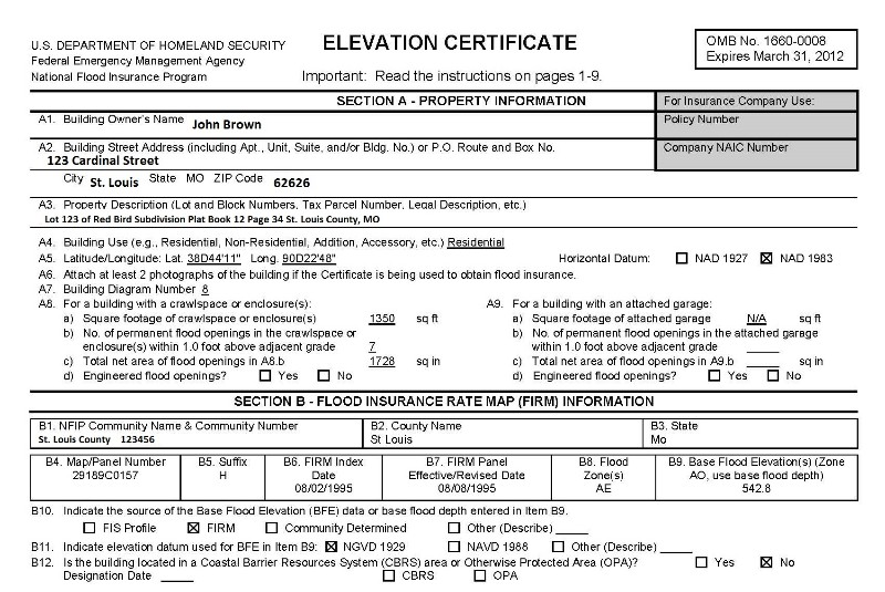 How To Read An Elevation Certificate